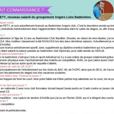 Newsletter Comité Badminton 49