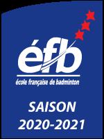 """Label """"école Française de Badminton"""""""