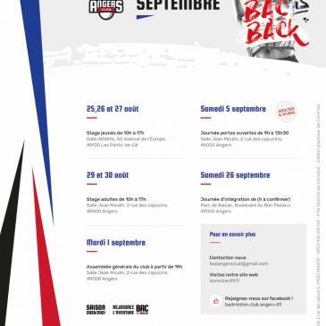 Programme Septembre 2020